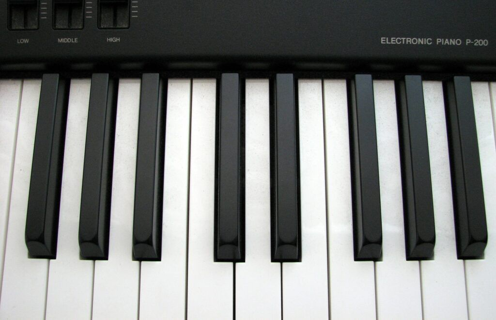 showing a digital piano